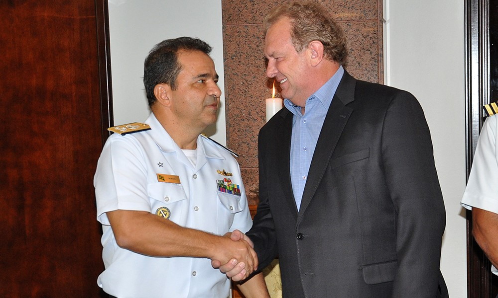 Governador Mauro Carlesse recebe comandante do 7º Distrito Naval