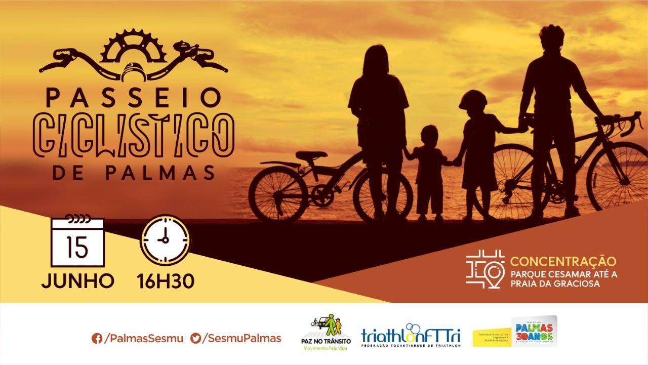 Passeio ciclístico chamará a atenção da sociedade para a paz no trânsito neste sábado,15