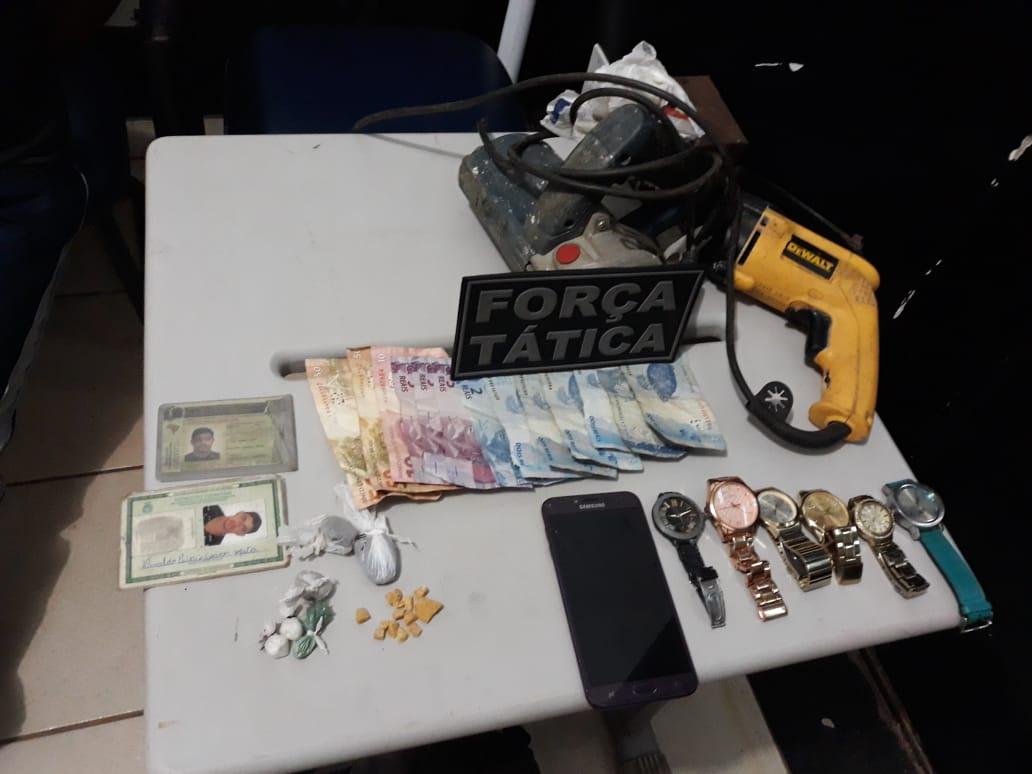 Força Tática do 1º BPM realiza flagrante de Tráfico em Palmas