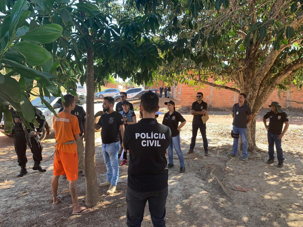 Polícia Civil efetua reprodução simulada de crime bárbaro ocorrido em Divinópolis