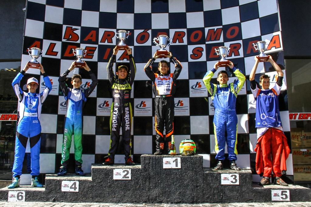 Pedro Aizza é vice-campeão da sexta etapa da Copa São Paulo Light de Kart