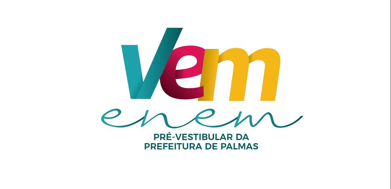 Prefeitura de Palmas realiza aula inaugural do cursinho pré-vestibular gratuito 'Vem Enem' na próxima segunda, 26