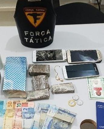 PM apreende drogas e detém casal por tráfico em Palmas
