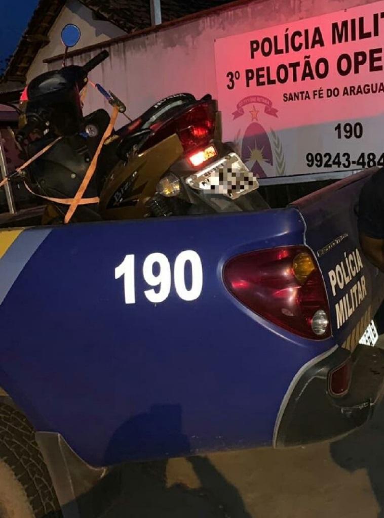 Polícia Militar captura homens por receptação e recupera moto furtada em Aragominas