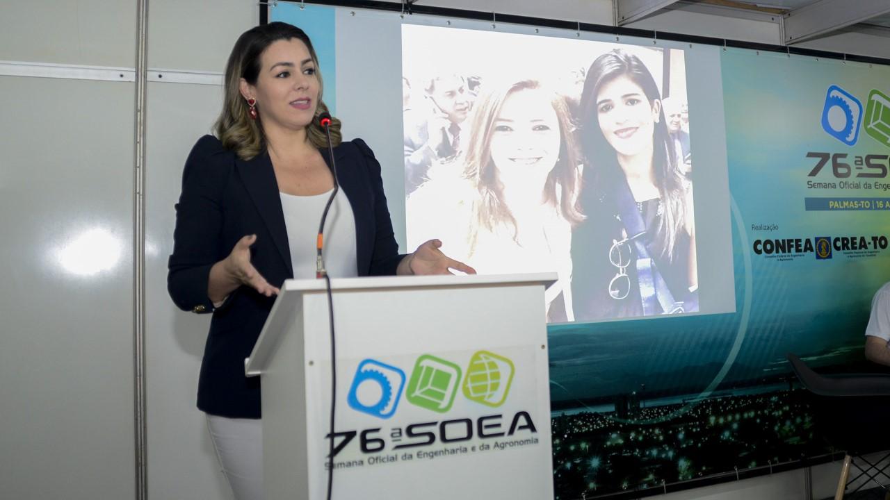 Cinthia Ribeiro destaca a importância de discutir a igualdade de competência durante Programa Mulher Confea/Crea