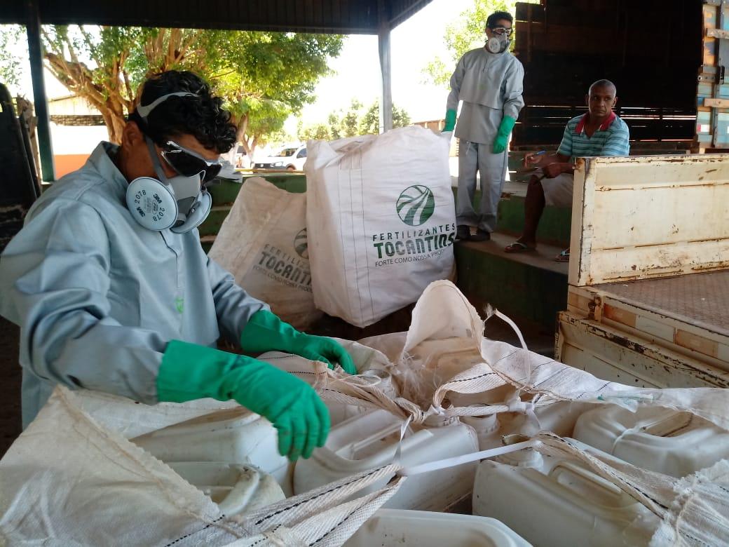 Produtores rurais de Paraiso do Tocantins e Divinópolis devolvem mais de 6 mil embalagens vazias de agrotóxicos