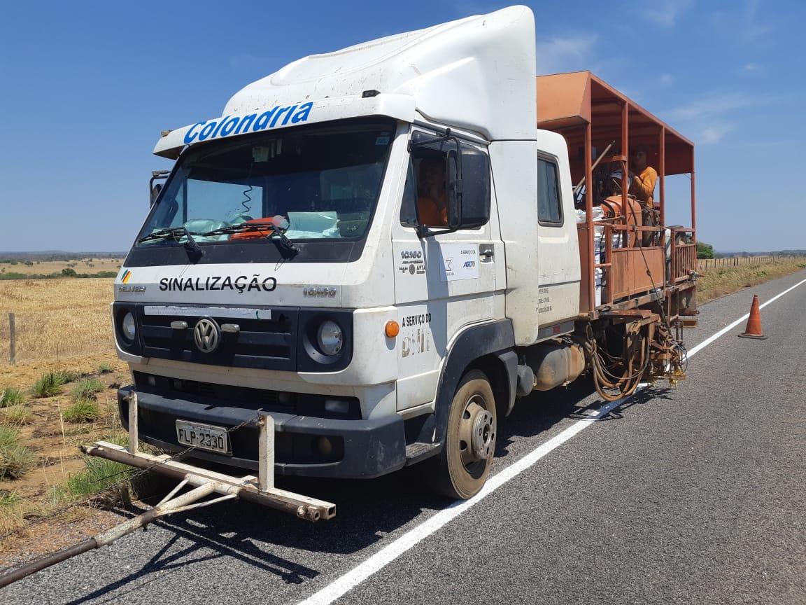 Rodovia TO-070 recebe obras de revitalização da sinalização no sudoeste do estado