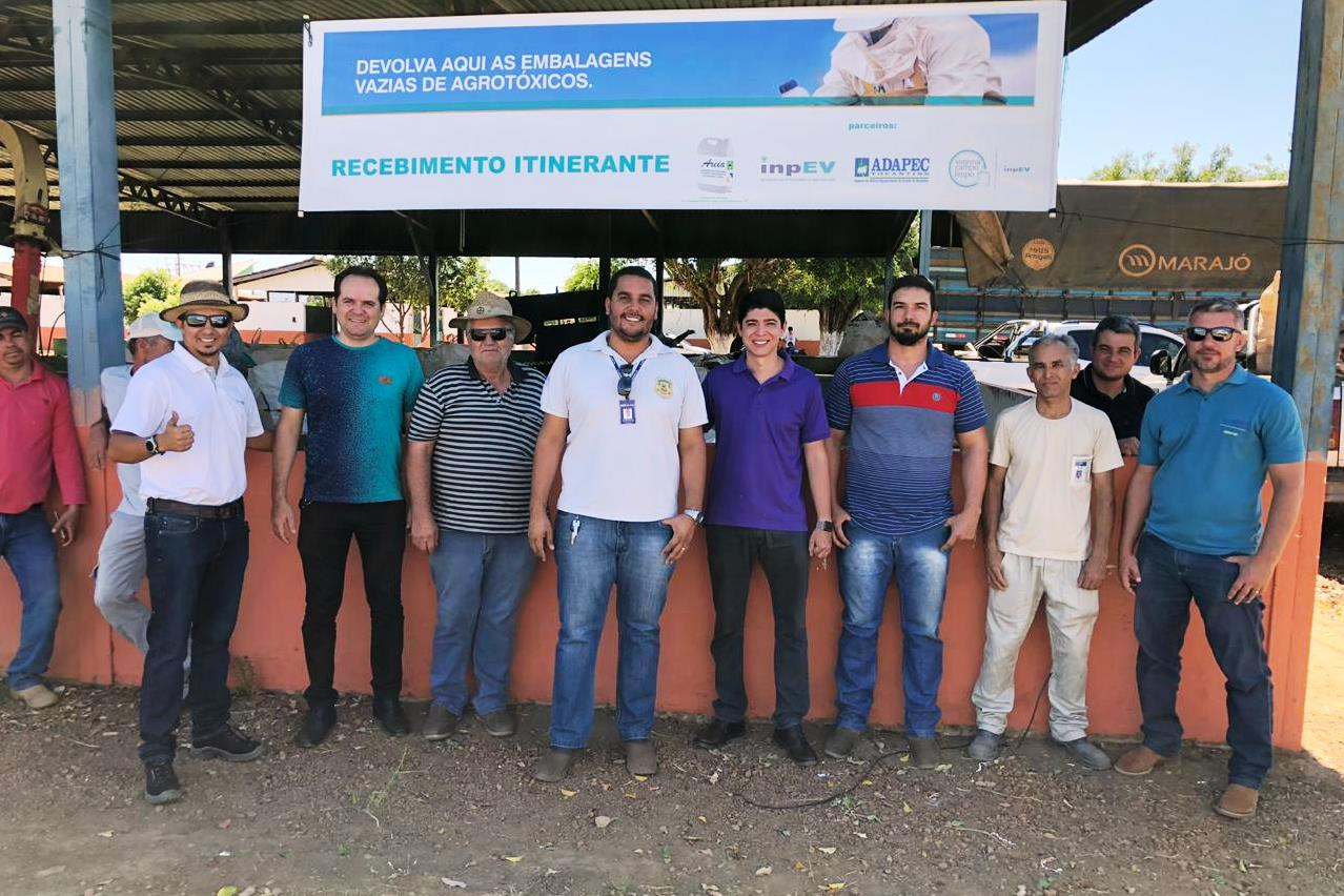 Vice-Prefeito Celso Morais participa de ação de recolhimento de embalagens de Defensivos Agrícolas