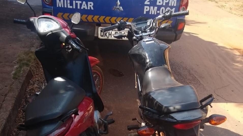 Polícia Militar prende homem e mulher por receptação e recupera motos roubadas em Araguaína