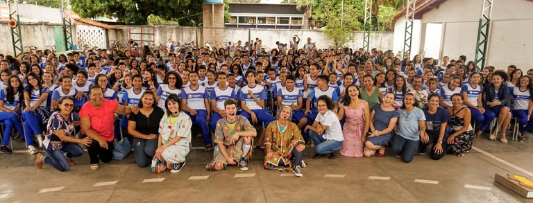 Quase 3 mil crianças de Redenção assistem teatro sobre preservação ambiental