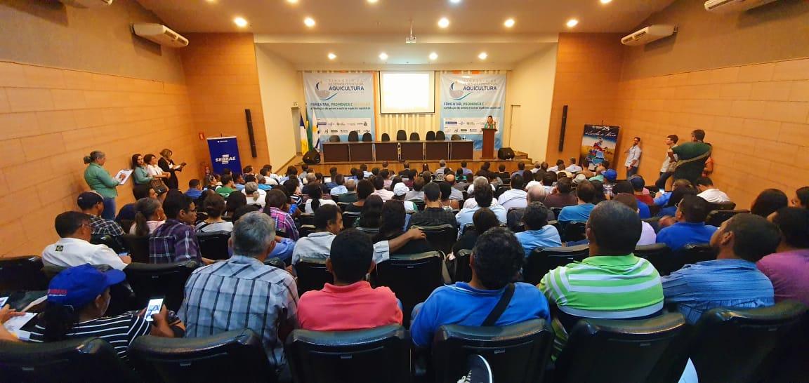 Abertura do Simpósio do Desenvolvimento da Aquicultura mostra potencial no Tocantins. O Sistema FAET/SENAR é um dos realizadores do evento