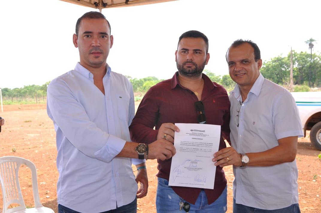 Prefeito Joaquim Maia assina ordem de serviço para a construção da UBS do setor Brigadeiro Eduardo Gomes
