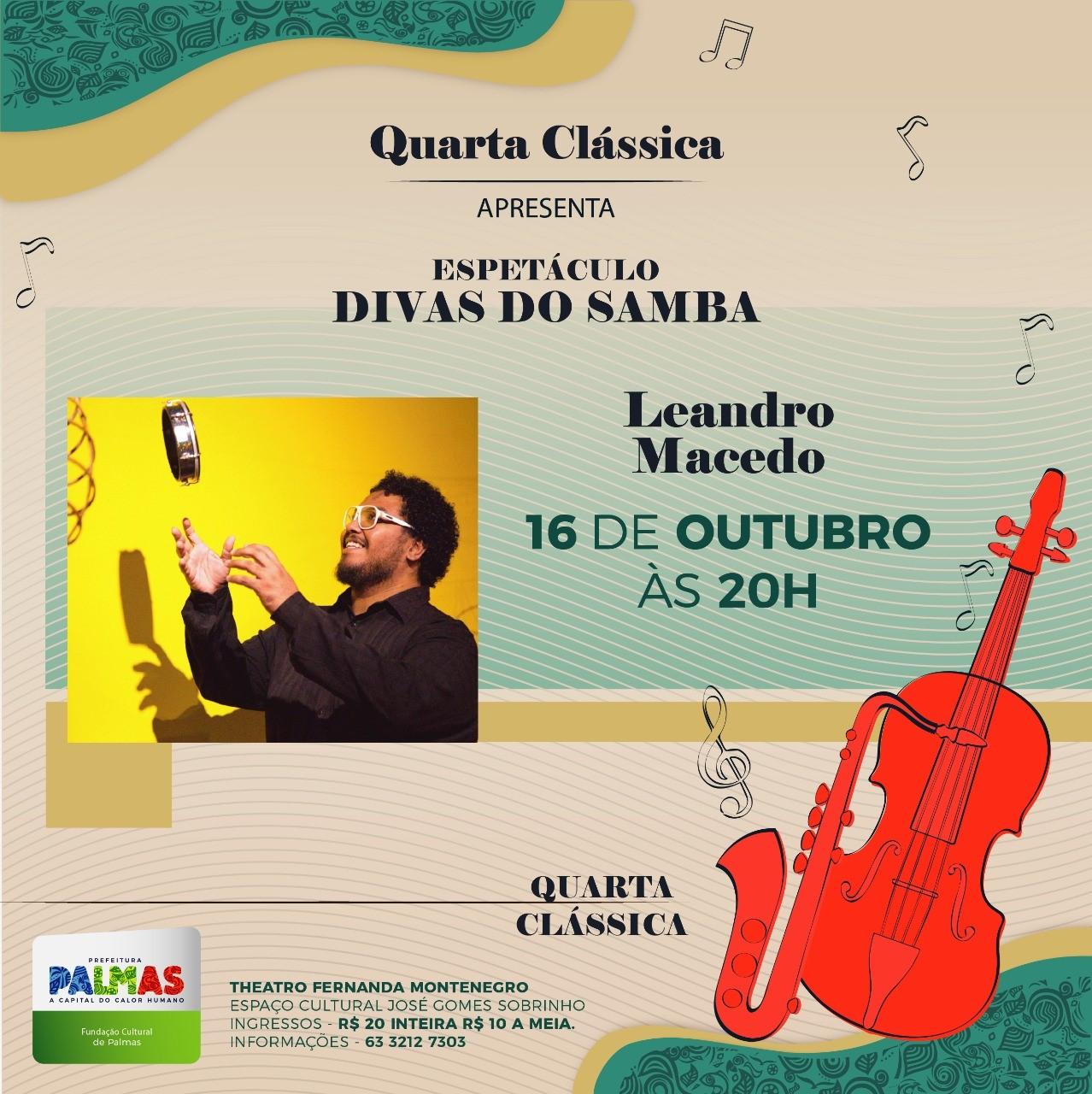 Quarta Clássica Especial apresenta homenagem às Divas do Samba, em Palmas