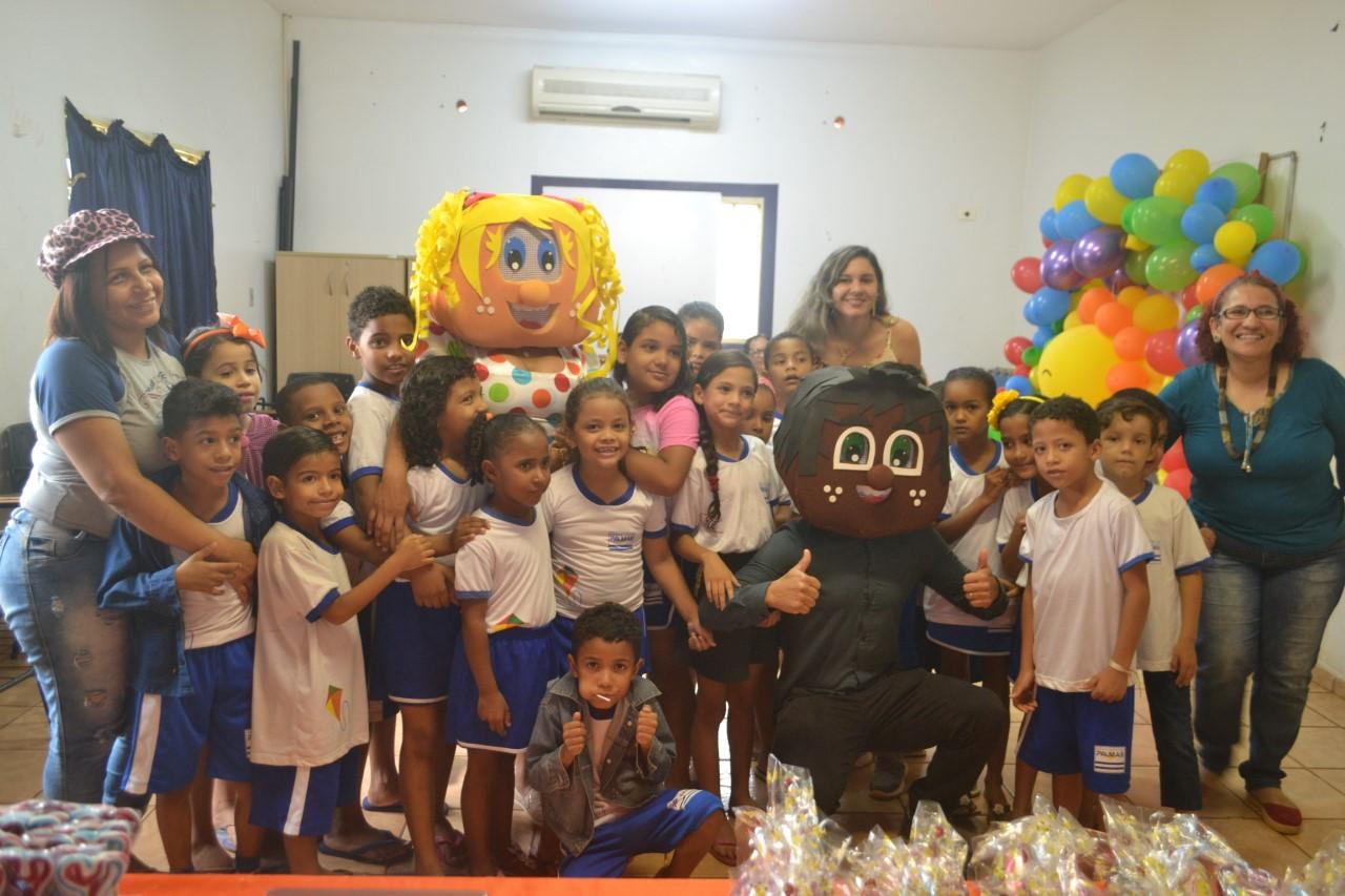 Crianças palmenses participam de oficina em alusão a Semana Nacional de Prevenção da Violência na Primeira Infância