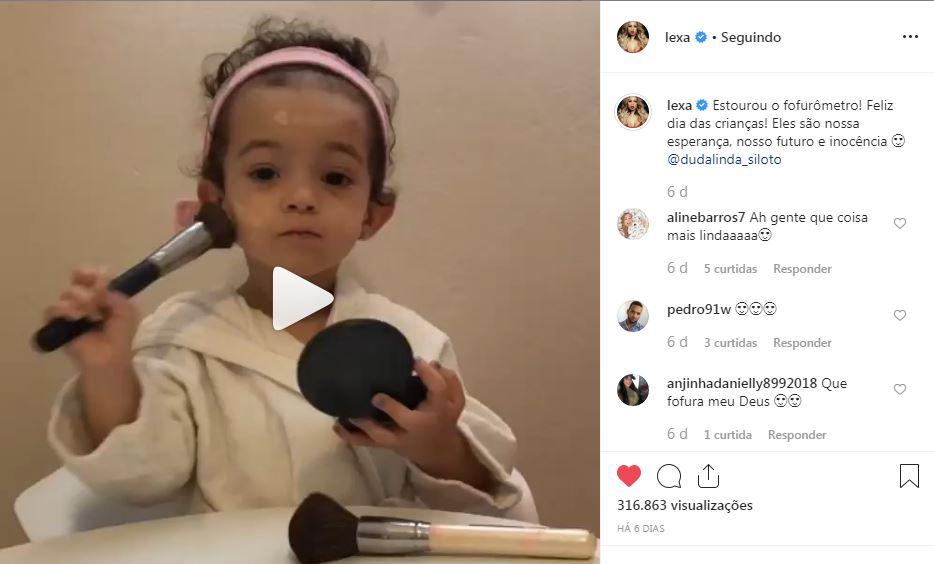 Saiba quem é a garotinha do vídeo publicado por Lexa