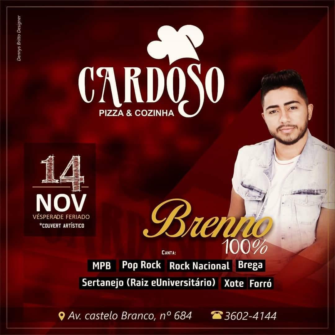 Cardoso Pizza e Cozinha terá música ao vivo nesta quinta, 14