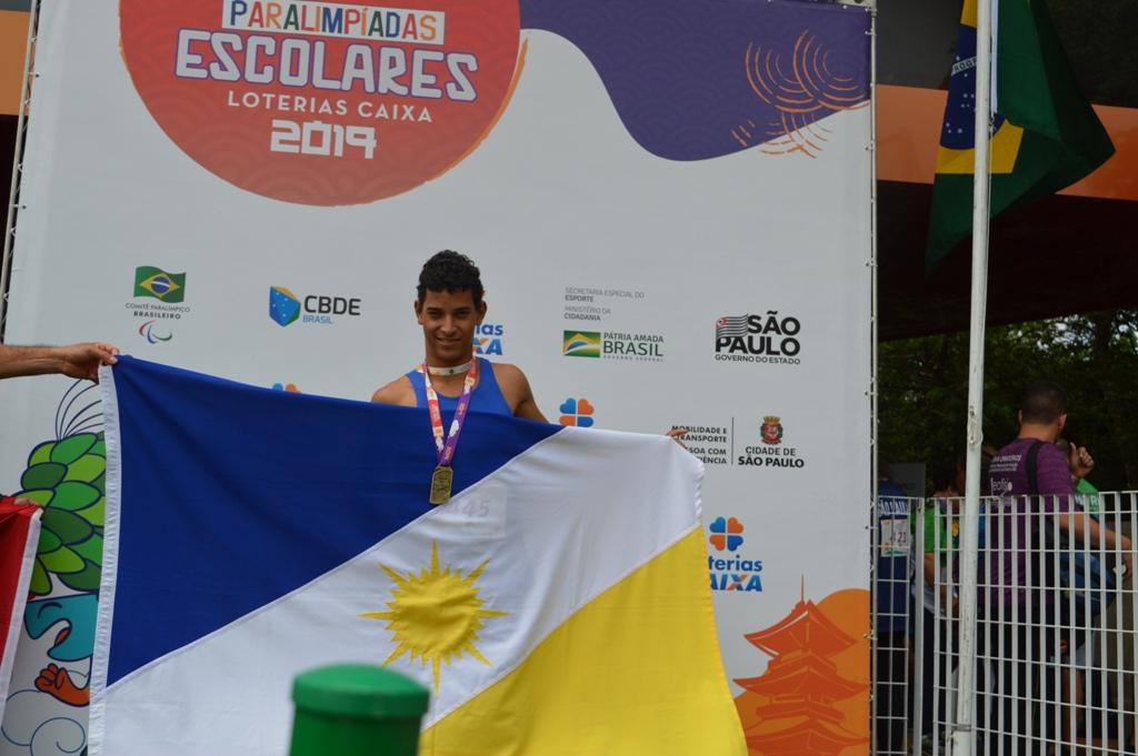 Tocantinenses quebram três recordes nacionais nas Paralimpíadas Escolares 2019