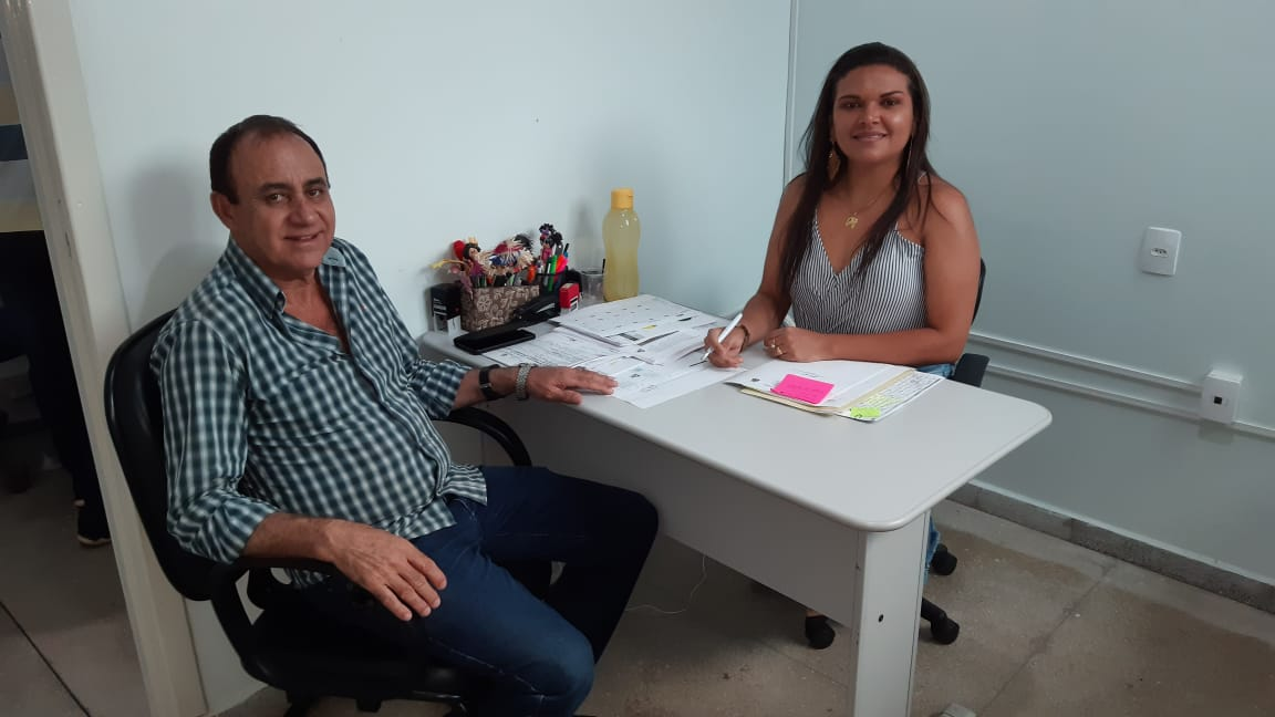 Prefeito Monte Santo visita diretora do HRP para tratar de assuntos relativos à Saúde