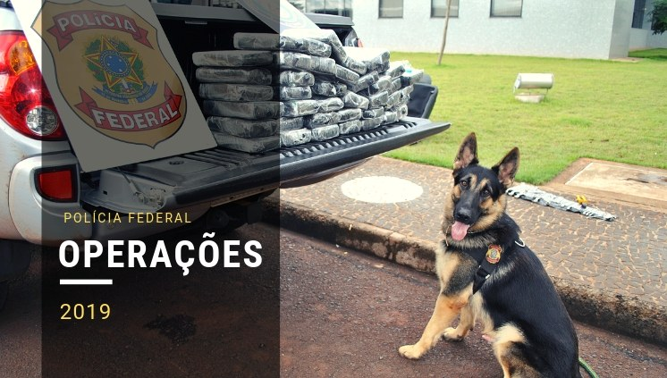 PF combate tráfico internacional de drogas e de armas em três estados e no Uruguai