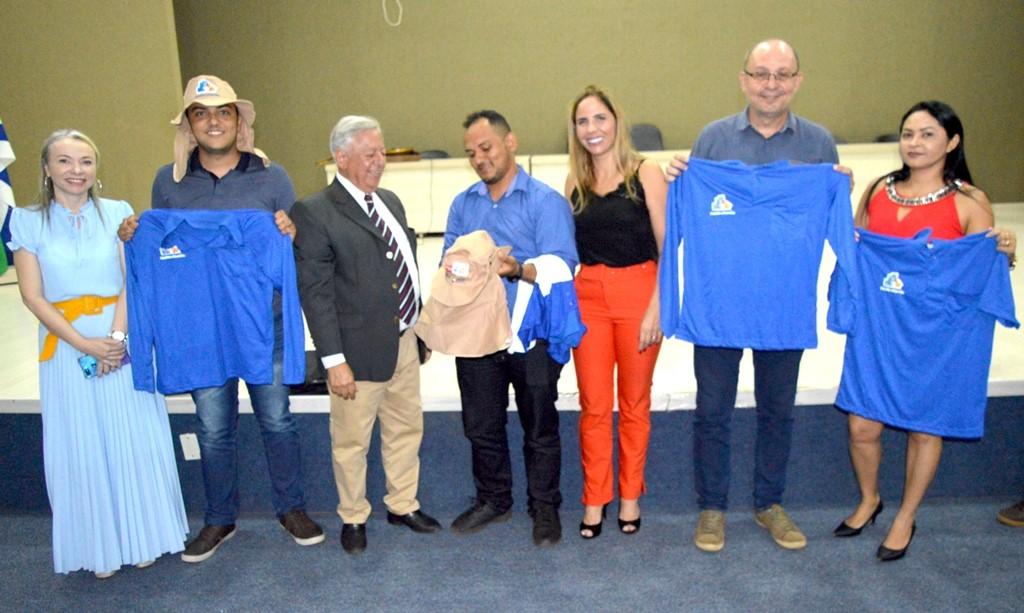 Novos uniformes dos agentes comunitários de saúde facilitam identificação por parte da comunidade palmense
