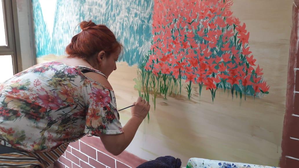 Arte leva esperança e tranquilidade aos pacientes do HGP