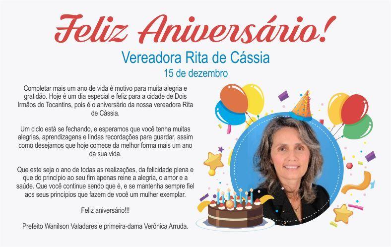 Prefeito e primeira-dama de Dois Irmãos parabenizam vereadora Rita de Cássia pelo seu aniversário