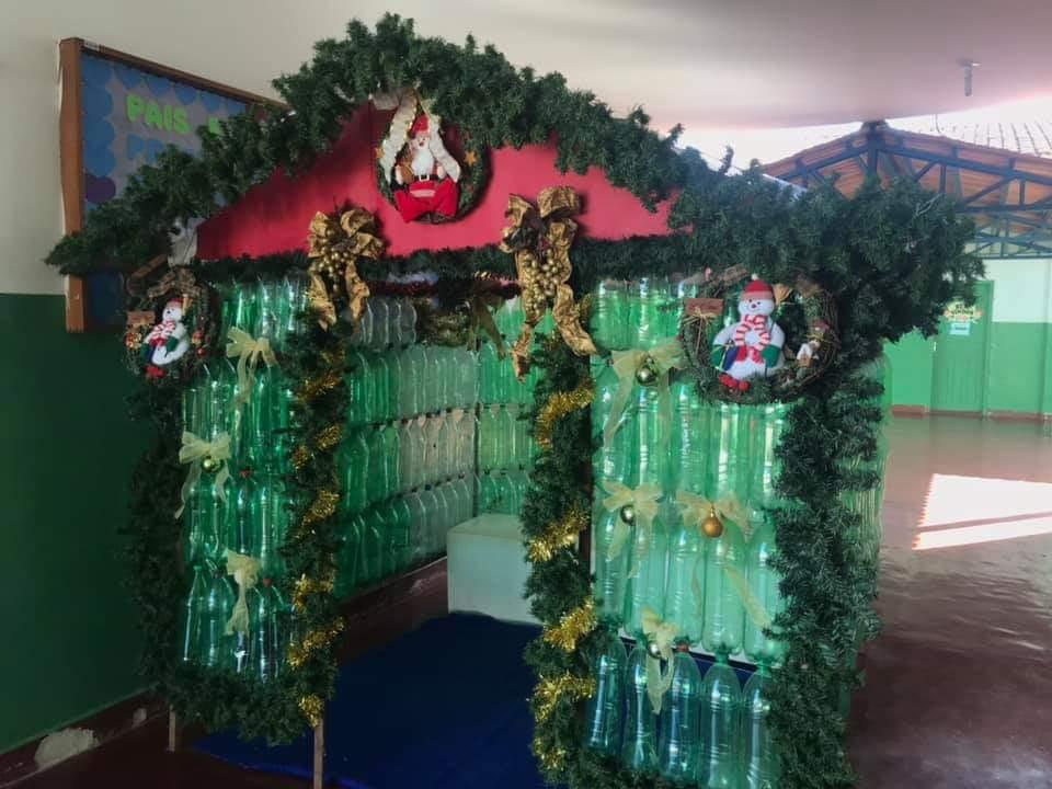 Prefeitura de Cristalândia inaugura 'Casinha do Papai Noel Sustentável'