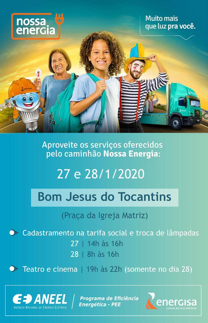 Projeto itinerante da Energisa leva serviços e cultura para municípios do norte do Tocantins