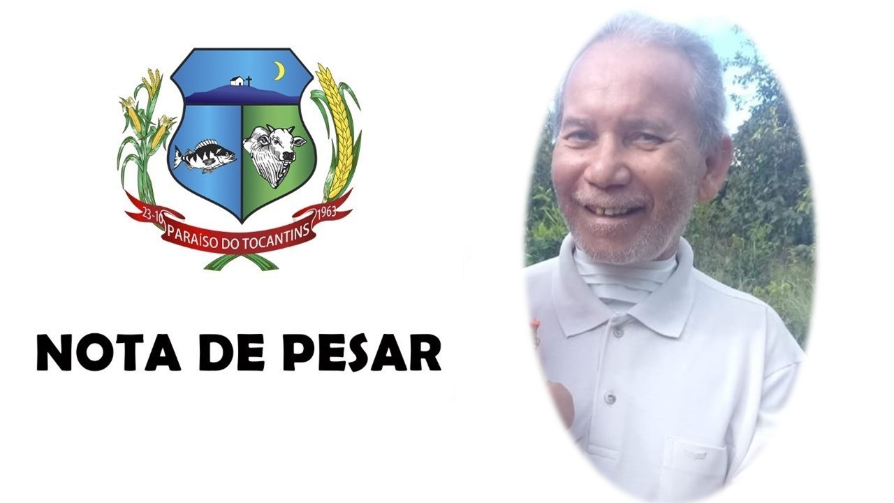 Prefeitura de Paraíso publica Nota de Pesar pelo falecimento de Erivelton Ericon Queiroz Santos