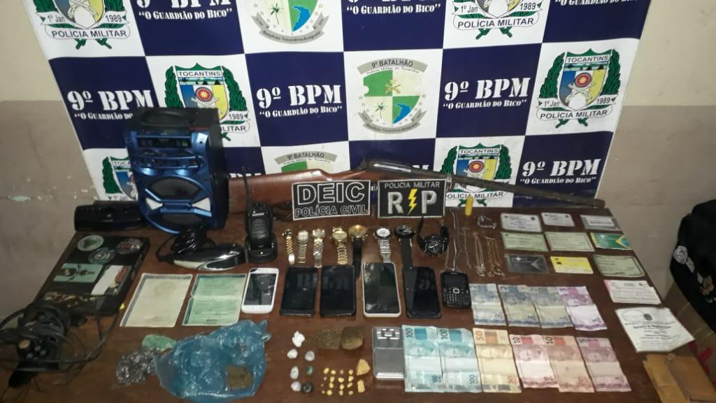 PM realiza prisões de traficantes, apreensões de menores e recuperação de objetos furtados na região do Bico do Papagaio