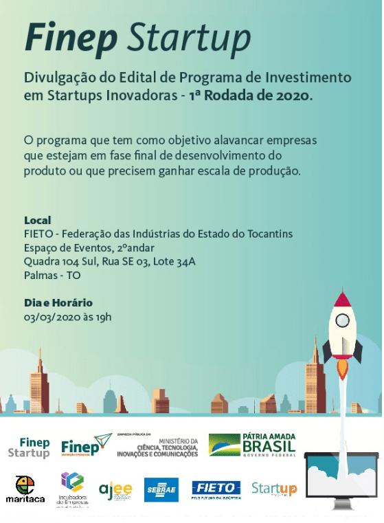 Sebrae incentiva participação de empresas tocantinenses em seleção do Finep Startup