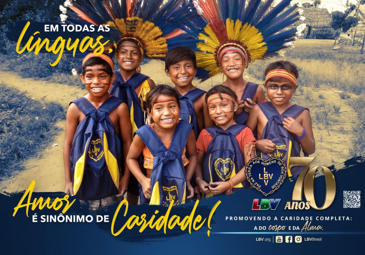 Nos 70 anos da LBV, campanha pela educação mobiliza a sociedade brasileira