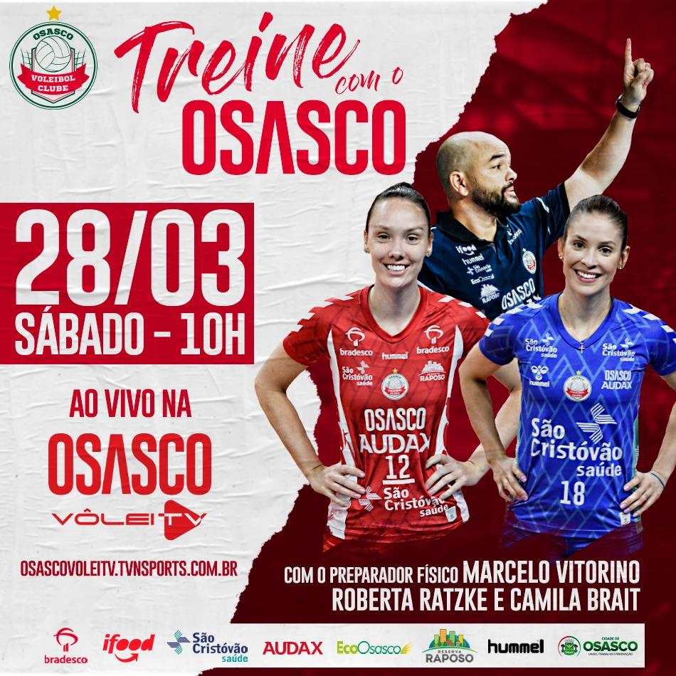 Osasco Audax/São Cristóvão Saúde faz treino online aberto a torcedores neste sábado (28)