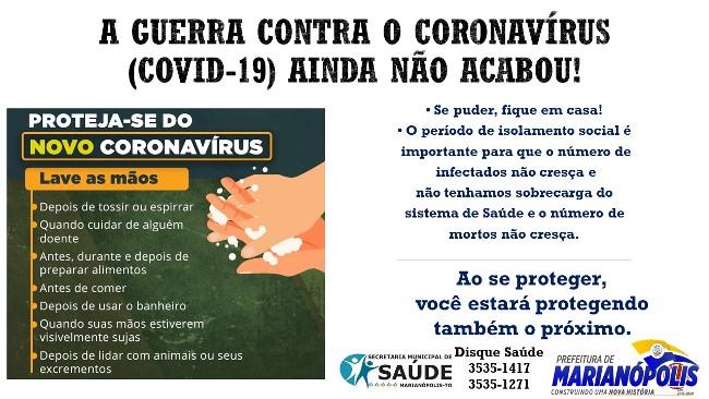 Prefeitura de Marianópolis pede apoio da população no combate à Covid-19