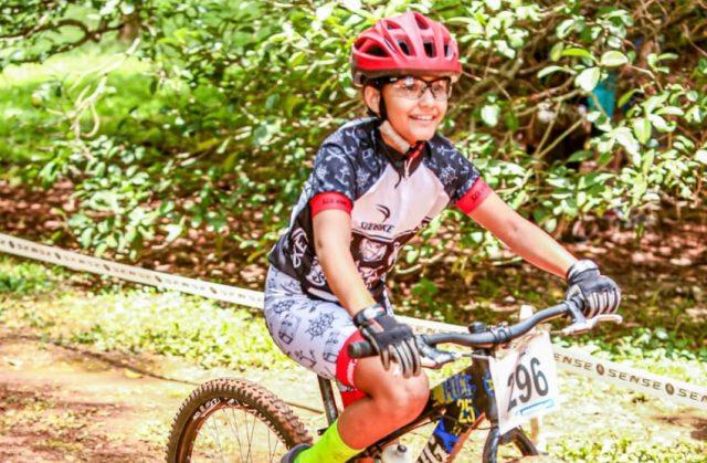 Sophia Portela de Oliveira é a sorteada da Mirim e leva uma Bike Grom