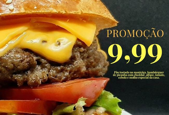 La Casa de Pastel oferece hambúrguer de picanha por menos de 10 reais em Paraíso