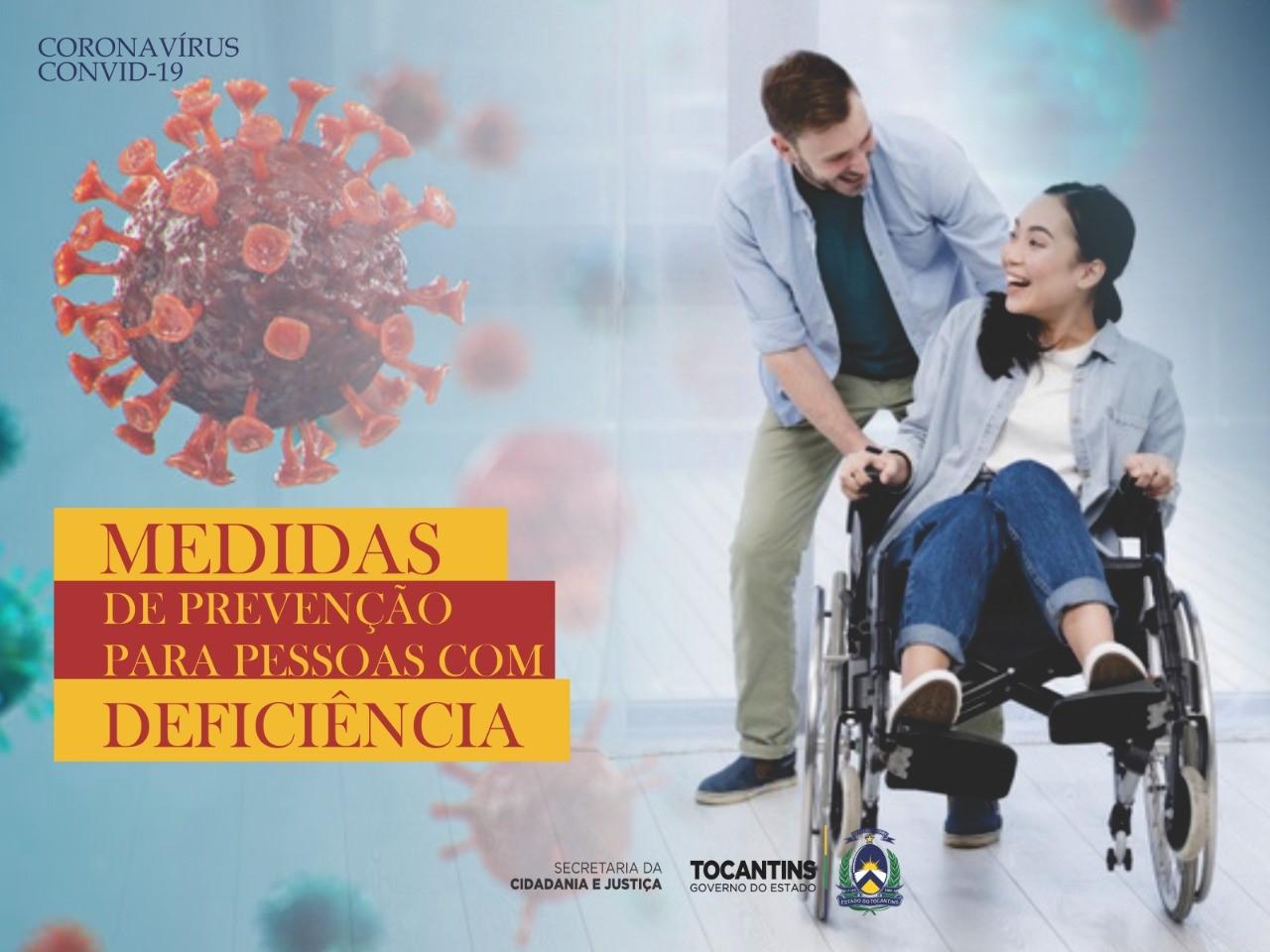 Conselho Estadual de Defesa dos Direitos da Pessoa com Deficiência divulgou recomendações sobre a prevenção à Covid-19