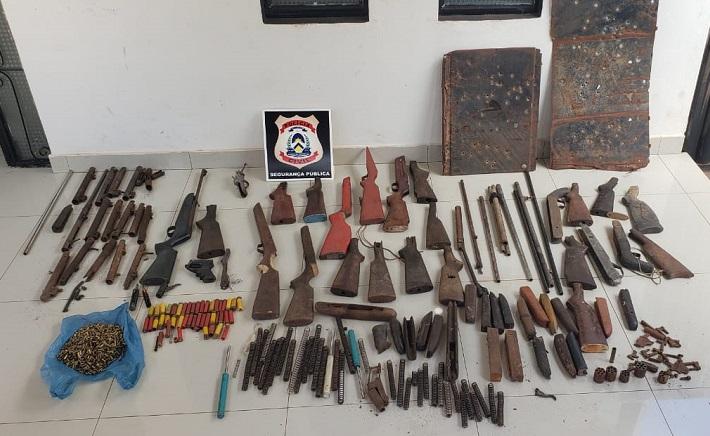 Polícia Civil fecha fábrica clandestina de fabricação de armas de fogo em Tocantinópolis
