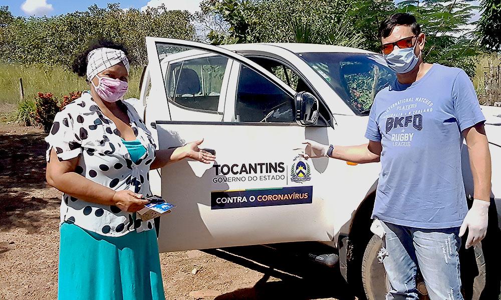 Cerca de 900 famílias de comunidades rurais na região sul já foram beneficiadas com cestas básicas do Governo do Tocantins