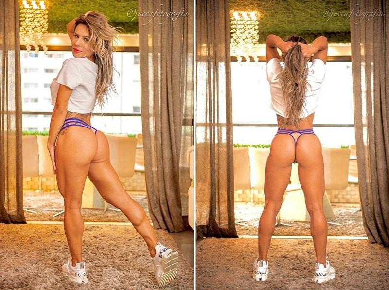 Musa Fitness Nai Oliveira ostenta shape sarado durante a quarentena