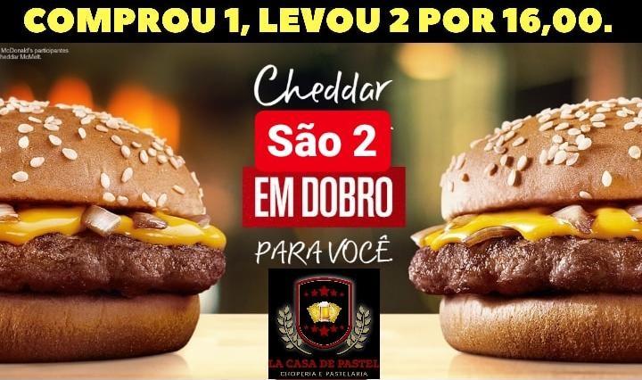 La Casa de Pastel anuncia promoção para esta quinta-feira em Paraíso: Compre 1 hambúrguer e leve 2, por R$16