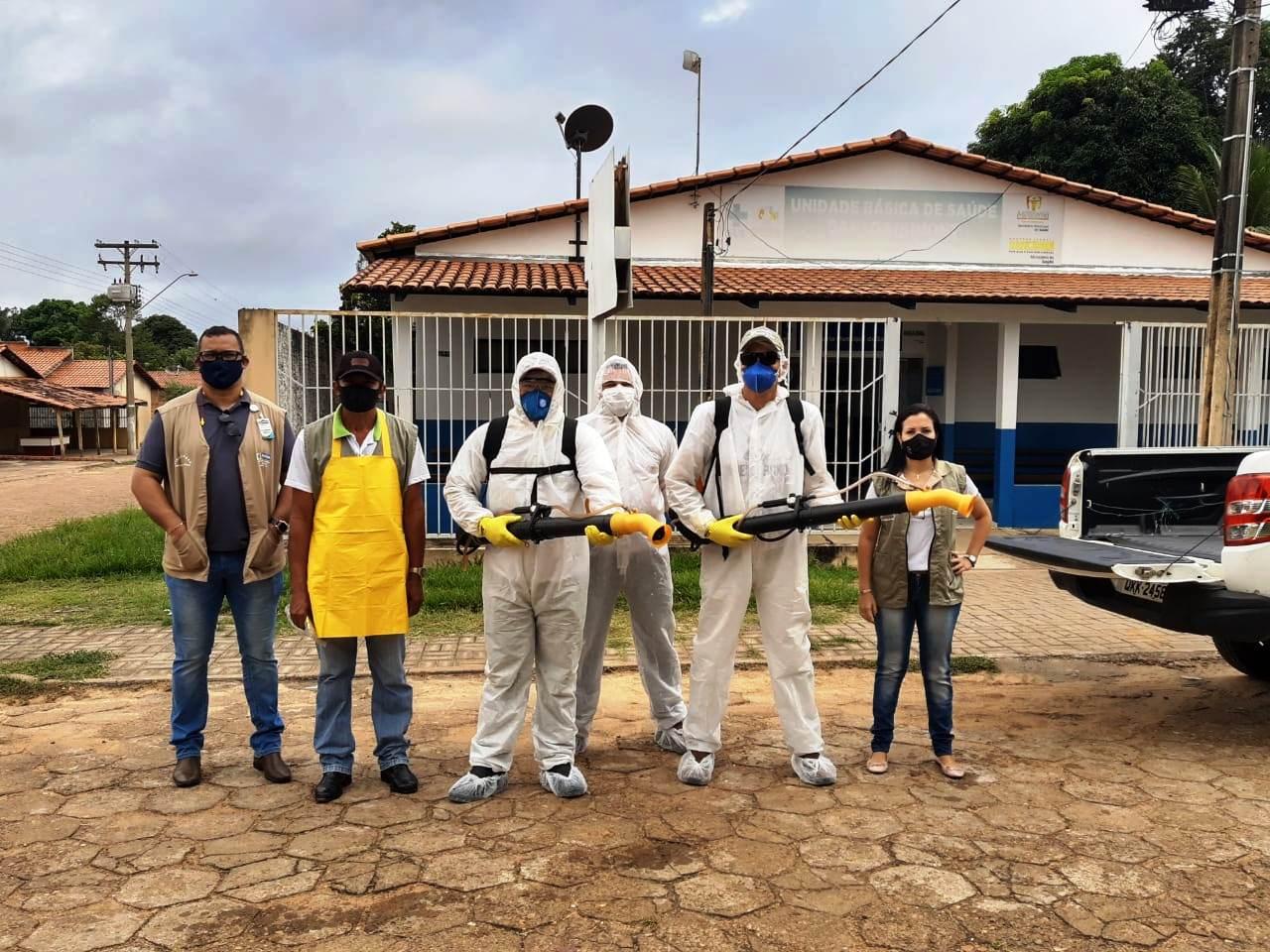 Prefeitura de Miracema realiza desinfecção das UBSs e do prédio da Companhia da Polícia Militar