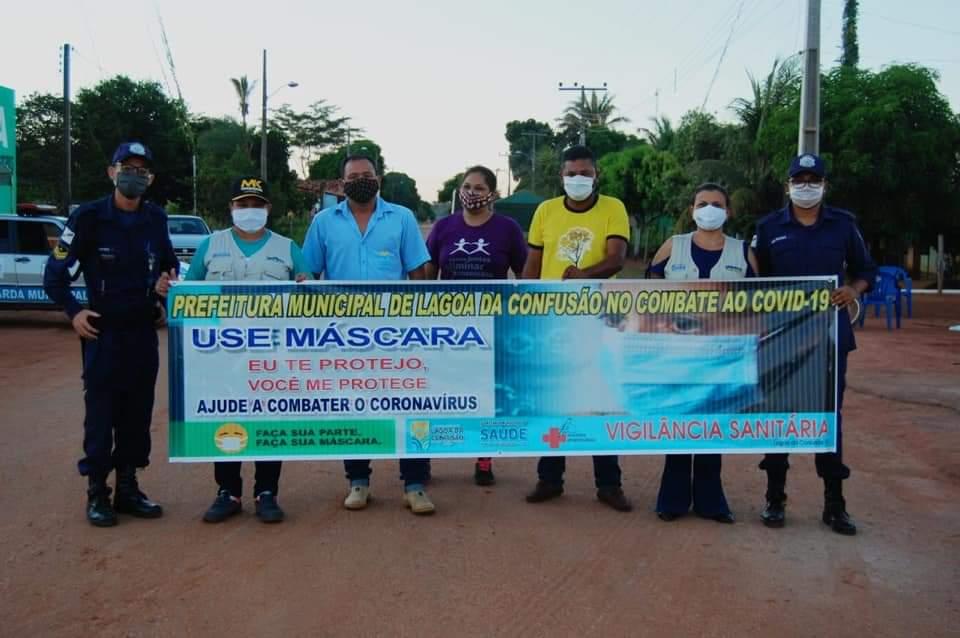 Prefeitura de Lagoa da Confusão realiza ação de conscientização contra o Coronavírus no Loroty