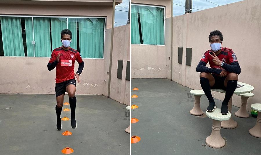 Após saída do Sampaio Corrêa, Abuda mantém rotina de treinos enquanto define futuro da sua carreira
