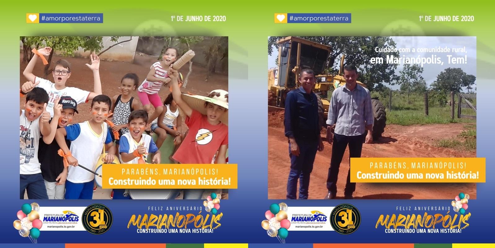 Prefeito Isaias Piagem celebra os 31 anos de Marianópolis do Tocantins