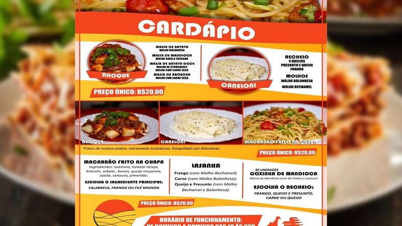 Restaurante delivery Cida Massas está com novidades em Paraíso, confira