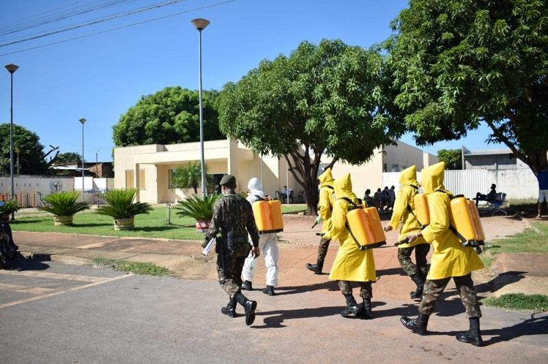 Centros de Saúde da Comunidade de Palmas são desinfectados em ação do Exército