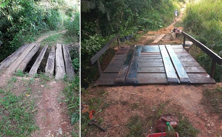 Prefeitura de Barrolândia realiza obras de recuperação de pontes na zona rural do município