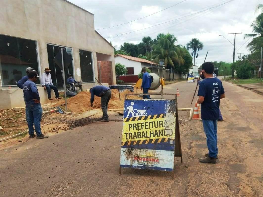 Prefeitura de Miracema inicia instalação de quebra-molas na Avenida Industrial