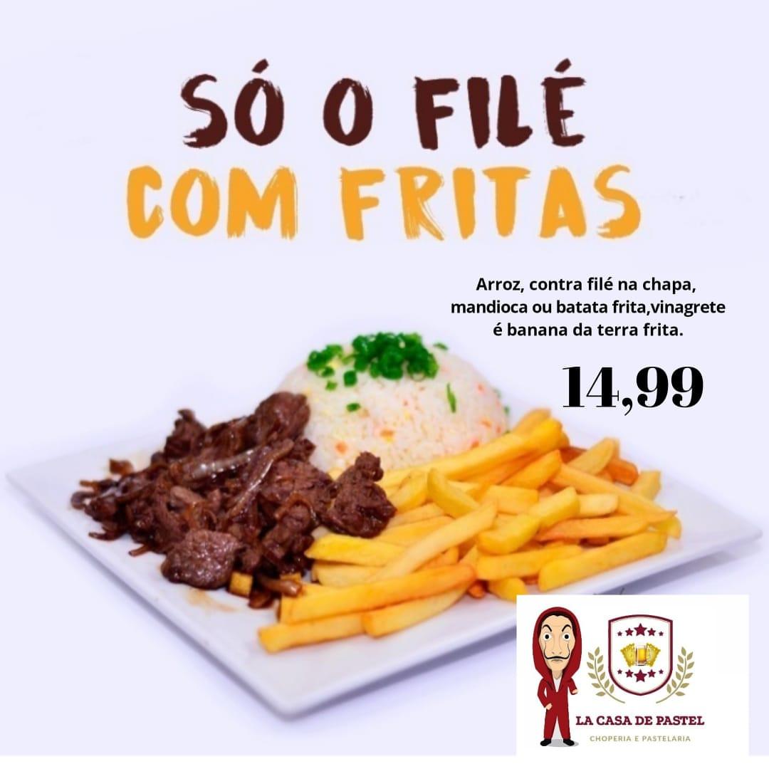 La Casa de Pastel tem promoção nesta quarta-feira: Filé com fritas por R$ 14,99